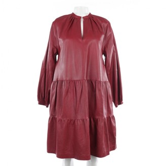 Stand Studio Red Leather Dress for Women