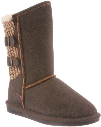 BearPaw Women's Cold Weather Boots CHESTNUT - Chestnut Distressed Boshie Suede Boot - Women