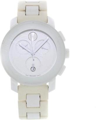 Movado Women's 3600057 'Bold' Chronograph White Resin Watch