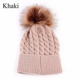 MENGDA Trendy Warm Chunky Soft Stretch Cable Knit Slouchy Beanie