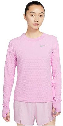 Nike Sphere Crew (Black/Reflective Silver) Women's Clothing