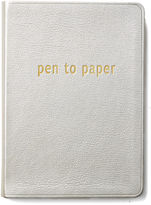 Graphic Image Leather Journal, Gold
