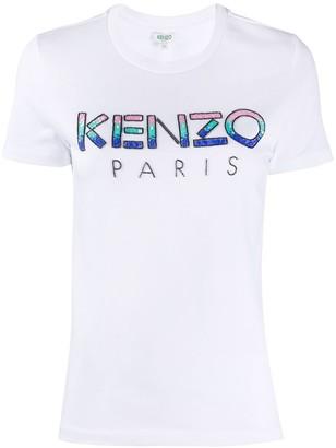 Kenzo gradient sequin T-shirt