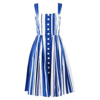 Dolce & Gabbana Blue Cotton Dresses