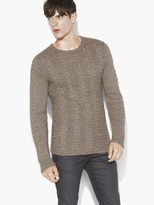John Varvatos Lattice Stitch Crewneck Sweater