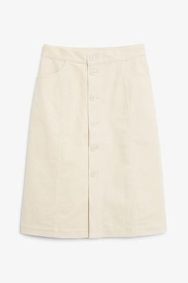 Monki Midi corduroy skirt
