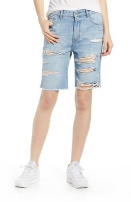 DL1961 Jerry Vintage Ripped High Waist Bermuda Shorts