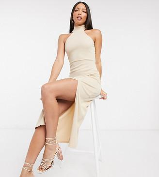 Fashion Union Tall sleeveless midi dress with roll neck and split