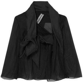 Rick Owens Draped Silk-chiffon, Tulle And Sateen Jacket