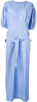 Ermanno Scervino oversized striped belted dress