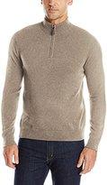 Williams Cashmere Men's 100 Solid Quarter Zip Sweater