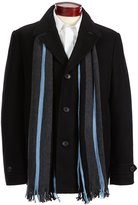 Michael Kors Monroe Wool-Blend Coat With Scarf