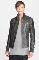 Rick Owens Men's 'Sternberg' Leather Jacket With Stowaway Hood