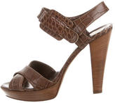 Just Cavalli Leather Multistrap Sandals