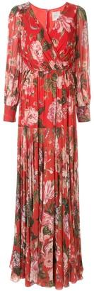 Ingie Paris Floral Wrap Long Dress