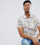 Bellfield TALL Short Sleeve Shirt With Hawaiian Print