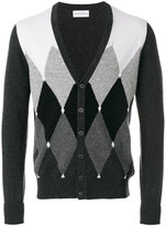 Ballantyne diamond pattern cardigan