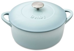 Denby Heritage Pavilion Cast Iron 5.5 Qt. Round Covered Casserole