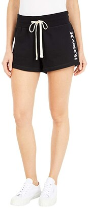 Hurley One and Only Fleece Shorts (Black) Women's Shorts