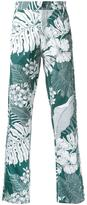 No.21 hawaiian print trousers