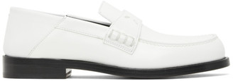 Maison Margiela White Slip-On Loafers