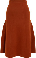 Joseph Ribbed Wool-blend Midi Skirt