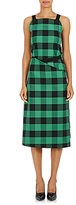 Balenciaga Women's Checked Sleeveless Wrap Dress