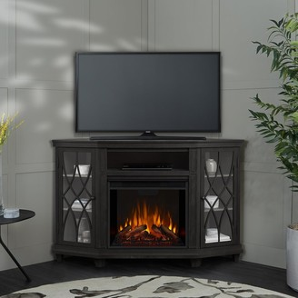 Real Flame Lynette Media Electric Fireplace Gray - 56.26L x 34.69W x 36.26H