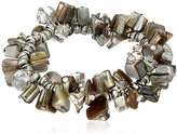 "Kenneth Cole New York River"" Shaky Shell Bead Stretch Bracelet, 2.5"""
