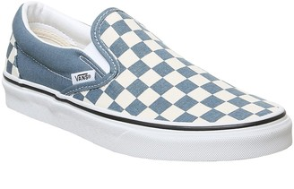 Vans Classic Slip On Trainers Blue Mirage True White