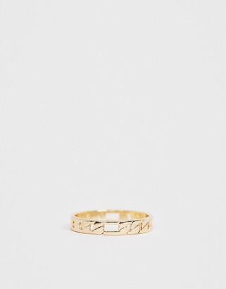 Asos Design DESIGN thumb ring in fine curb chain design in gold tone