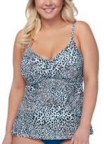 Thumbnail for your product : Raisins Curve Trendy Plus Size Kenya Aries Underwire Tankini Top Women's Swimsuit