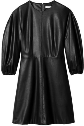 Tibi Faux Leather Mini Dress