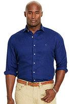 Polo Ralph Lauren Big & Tall Linen Solid Long-Sleeve Woven Shirt