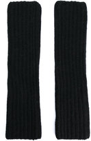 Ermanno Ermanno - ribbed fingerless gloves - women - Polyamide/Angora/Wool - One Size