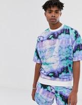 Asos Design DESIGN two-piece short sleeve oversized sweatshirt in tie dye