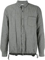 Sacai quilted shirt jacket - men - Cotton/Linen/Flax/Polyester - 3