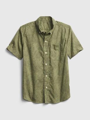 Gap Kids Poplin Printed Shirt