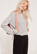 Missguided Grey Crew Neck Sweater