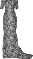J. Mendel Misty off-the-shoulder metallic jacquard gown