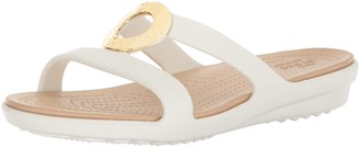 Crocs Women's Sanrah Hammered Met Sandal W Flat