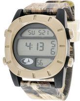 JCPenney Mossy Oak Mens Beige Bezel Camouflage Silicone Strap Sport Watch