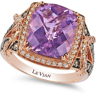 LeVian Le Vian 14K Strawberry Gold 5.02 Ct. Tw. Diamond & Amethyst Ring