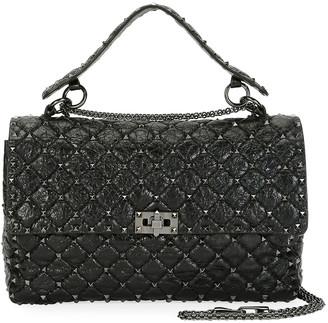 Valentino Garavani Rockstud Spike Large Quilted Leather Shoulder Bag