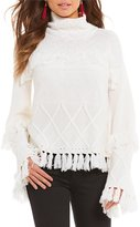 Gianni Bini Jessica Sweater with Fringe