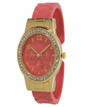Preston Women's Rhinestone Bezel Matte Cuff Bracelet Watch 38mm