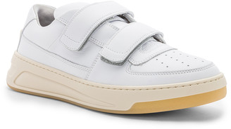 Acne Studios Leather Pete Sneakers in White | FWRD