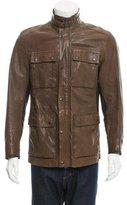 John Varvatos Leather Utility Jacket