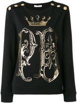 Pierre Balmain gold-tone logo print sweatshirt