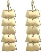Robert Lee Morris Gold Shaky Linear Earrings
